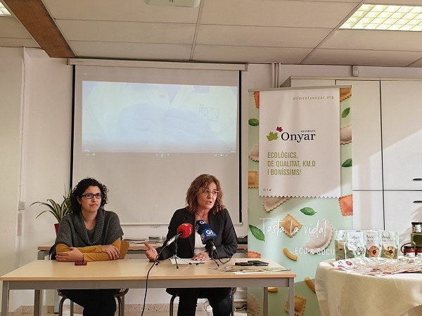 New food factory Onyar, the only organic fresh pasta for social purpose in Catalonia