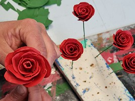 For St. George, roses and books with social value